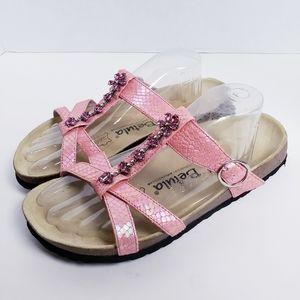 Birkenstock Betula Rhinestone Slide Mule Sandals 8